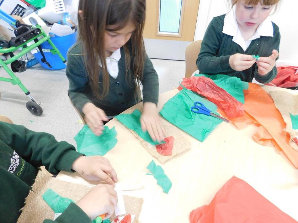 We used a range of resources to create flowers.
