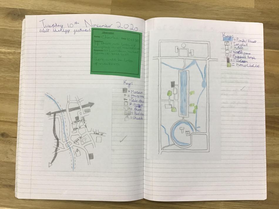We compared maps of Maidstone and Lumbini