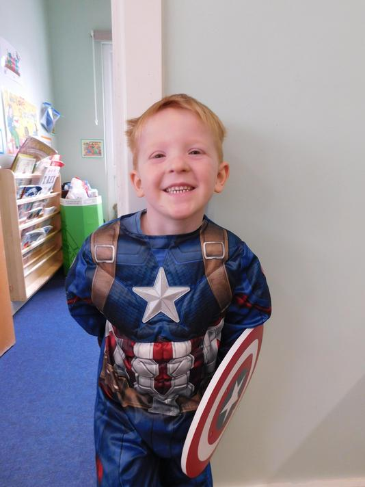 Love the Captain America shield Stanley.