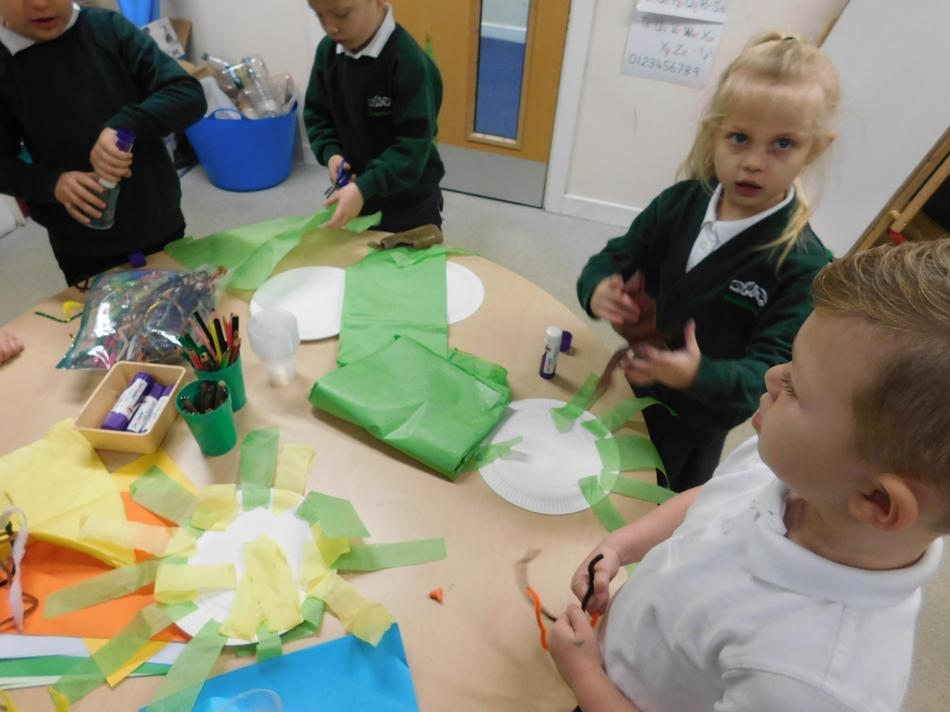 we created our own sea animals.