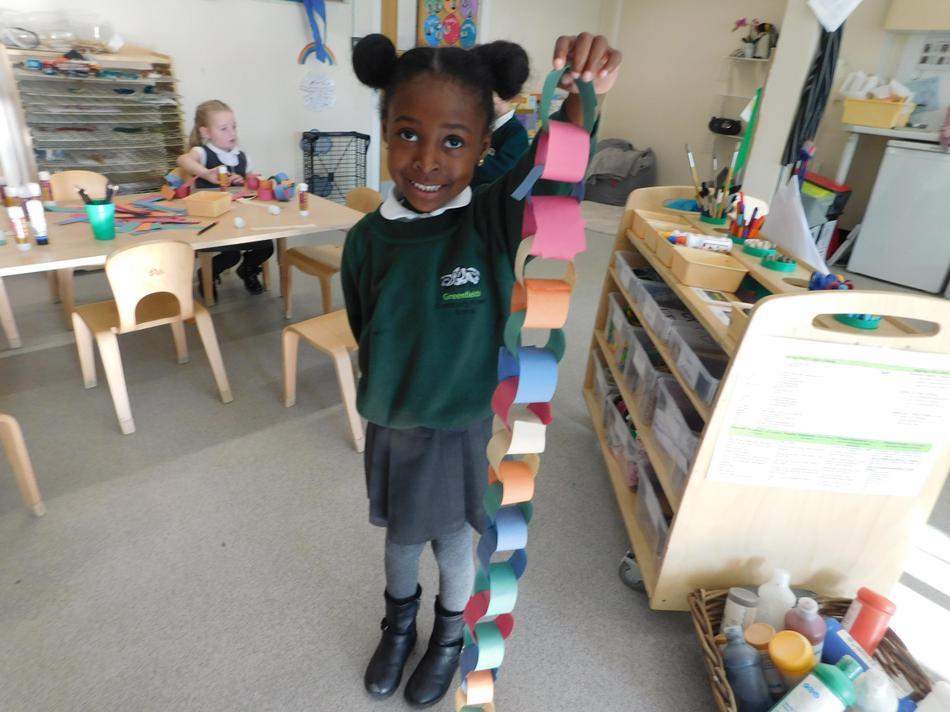 Brilliant paper chain Imani.