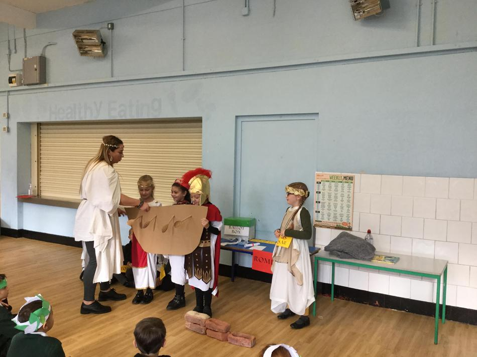 The Romans sailed across the sea to conquer Britain.