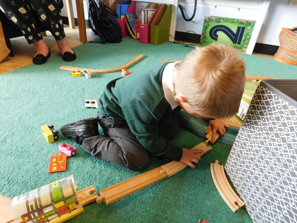 Train track under construction