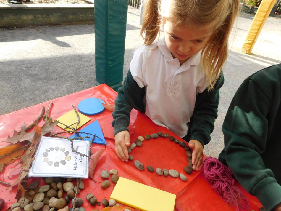 Zofia used natural resources for shape making.