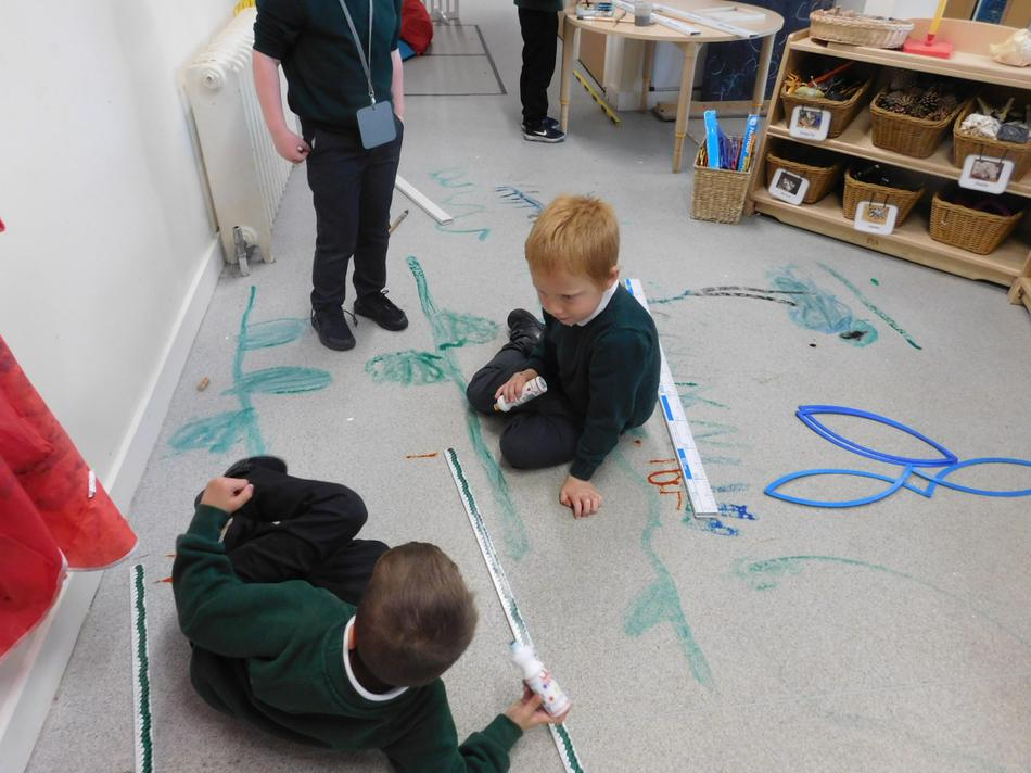 We then used metre sticks to measure them.
