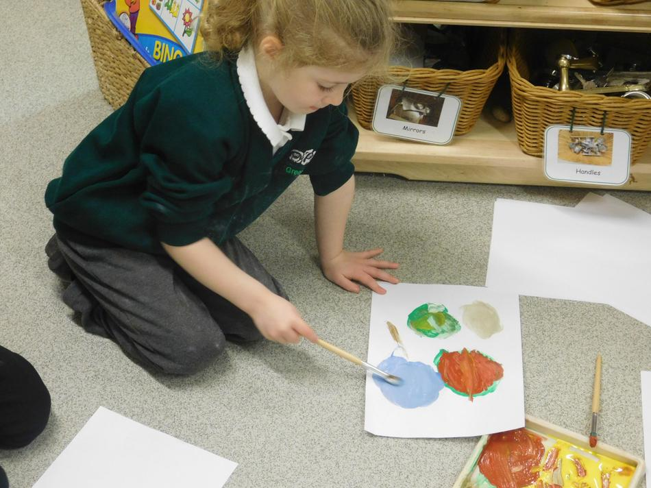 We even painted our own planets.