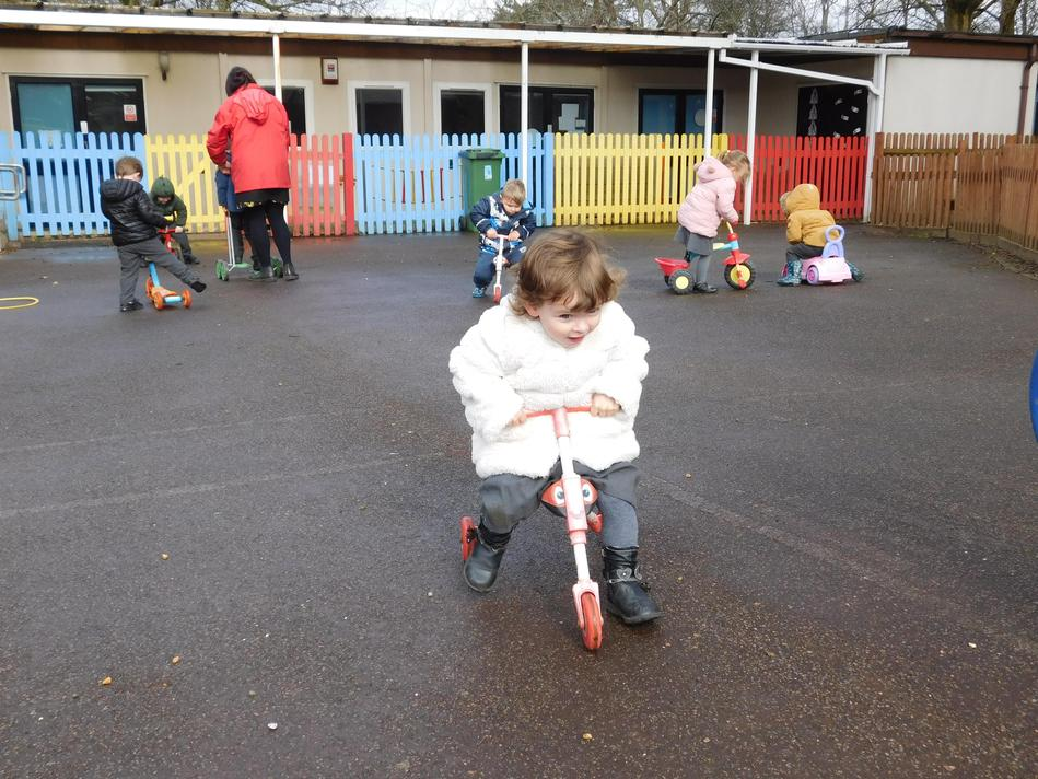 Whizzing on the bikes