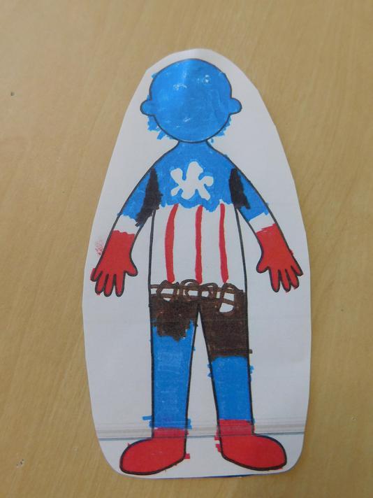Myra's amazing Captain America!