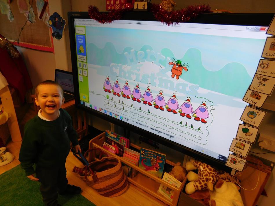 Jamie-Jack enjoying some festive music.