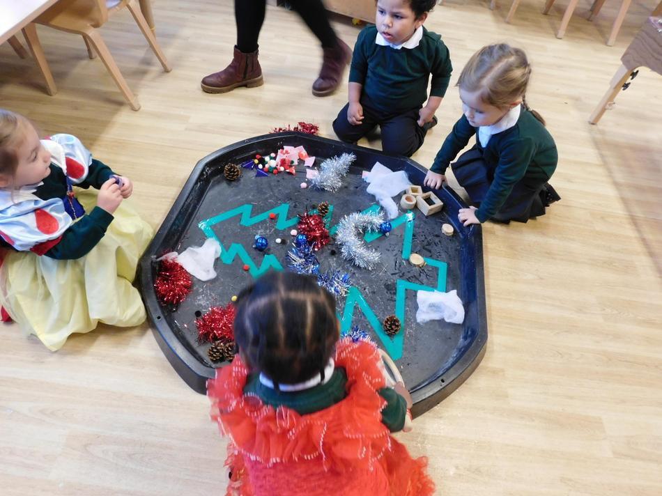 The children decorated their own tree.