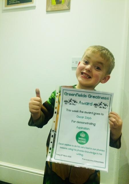 Well done Oscar, so proud of you.