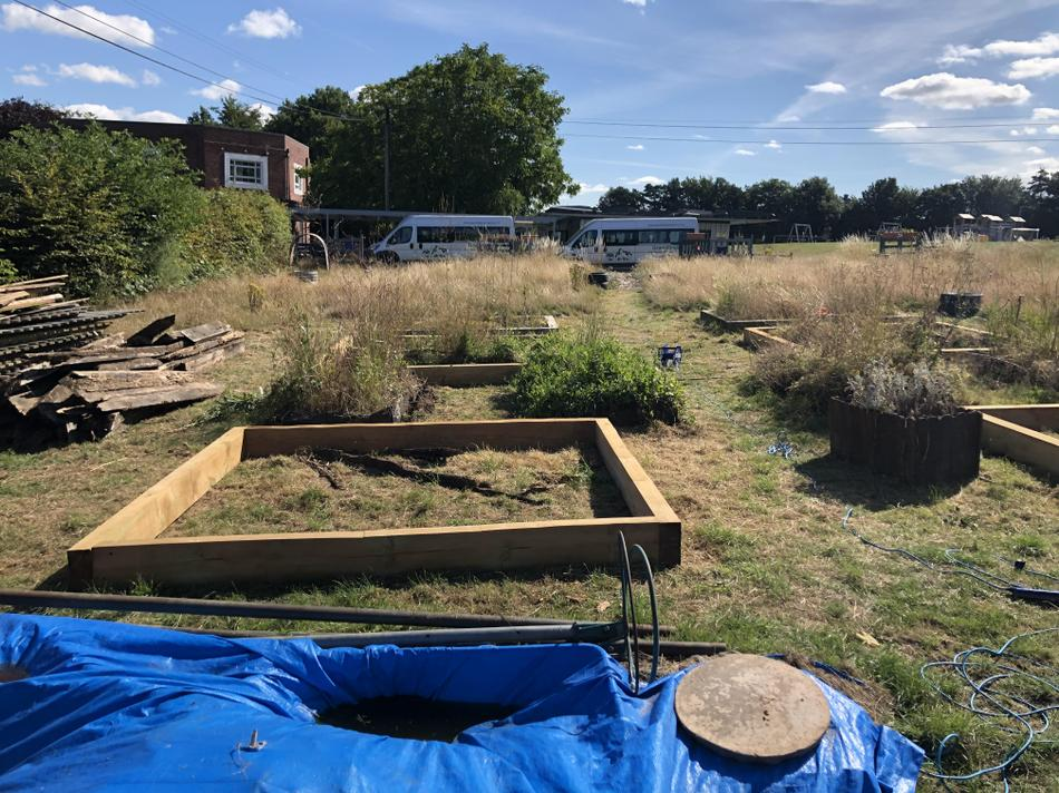 The allotment has been restored and upgraded.