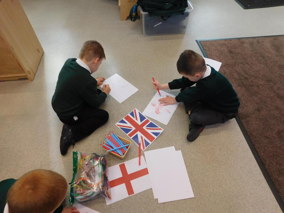 We drew our own flags...