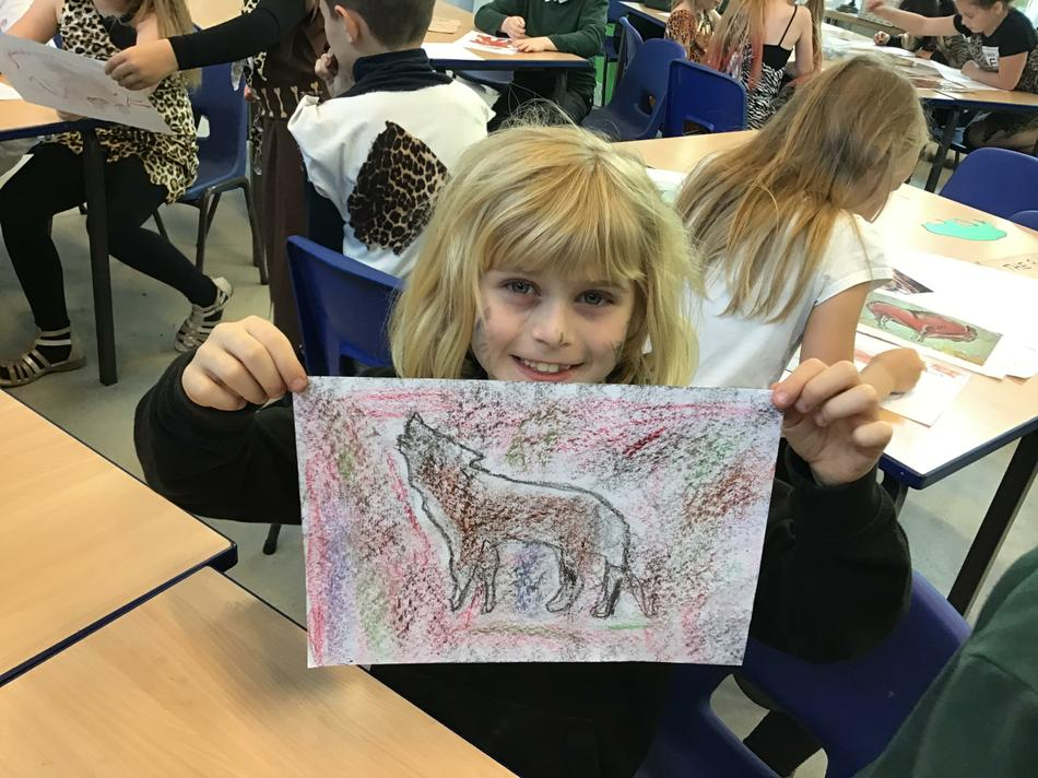 Look at our fantastic cave paintings!
