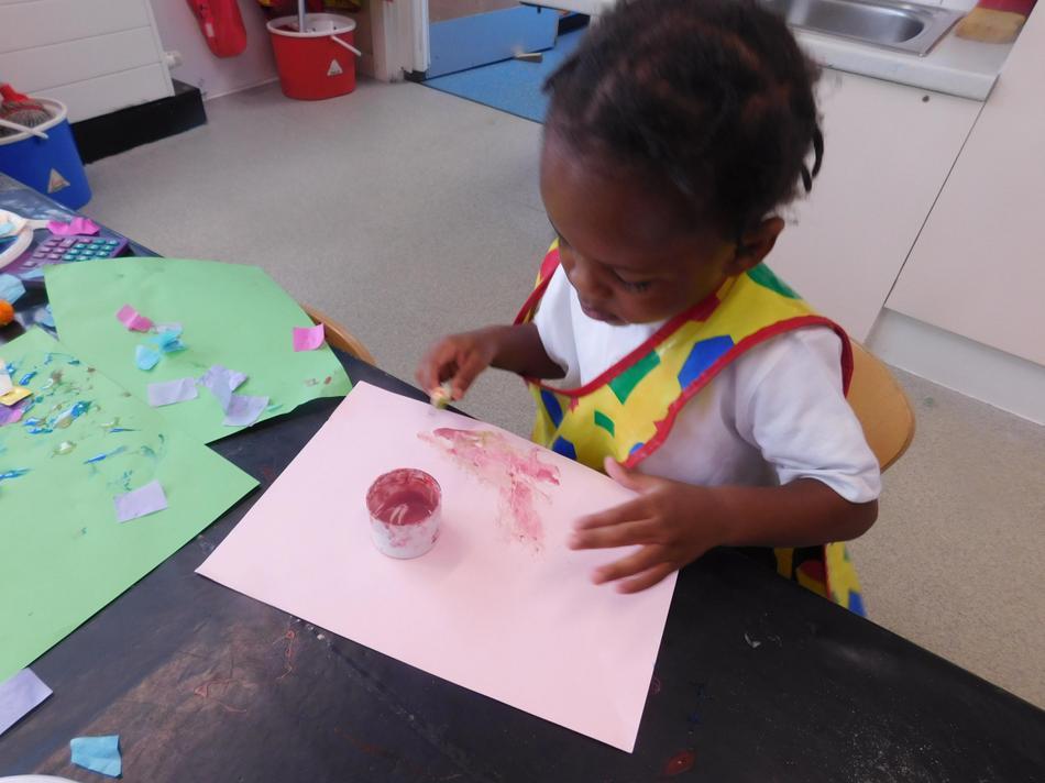 Exploring glue on paper.