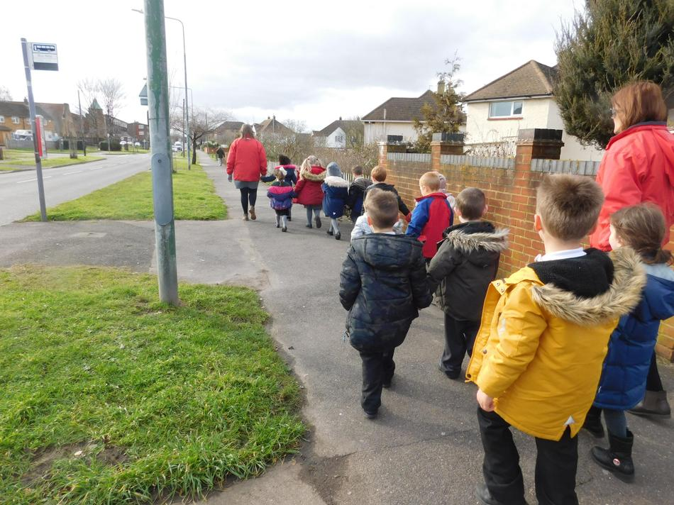 We went to see what is in our local area.