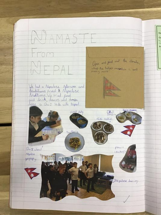 During our Nepalese afternoon, we tasted traditional foods and learned traditional dances.