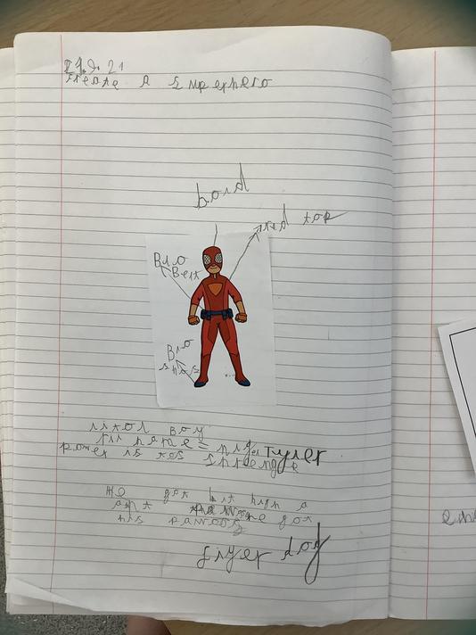 Tyler's superhero is called 'Little Boy!'