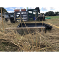 The recycled roof box and sandpit make really simple pond liners.