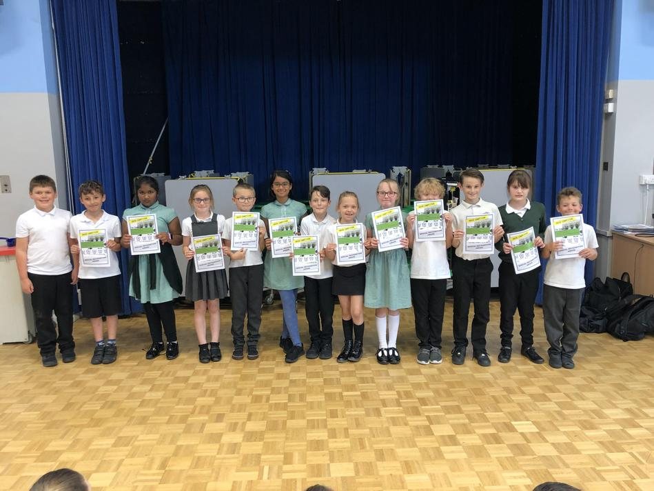 LKS2 - Special recognition winners
