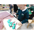 Luke used different materials to create his jungle