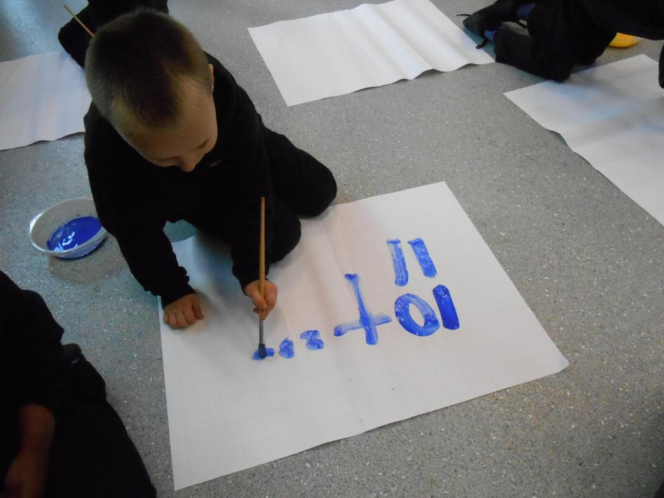 Painting number sentences