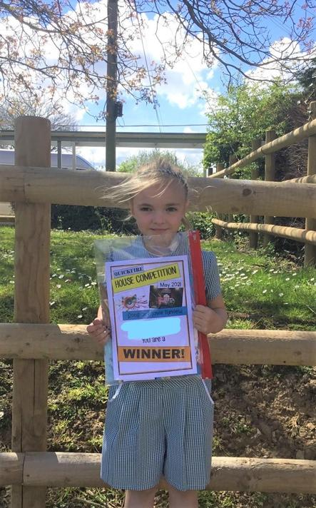 Well done Lily - our Ks1 Winner!