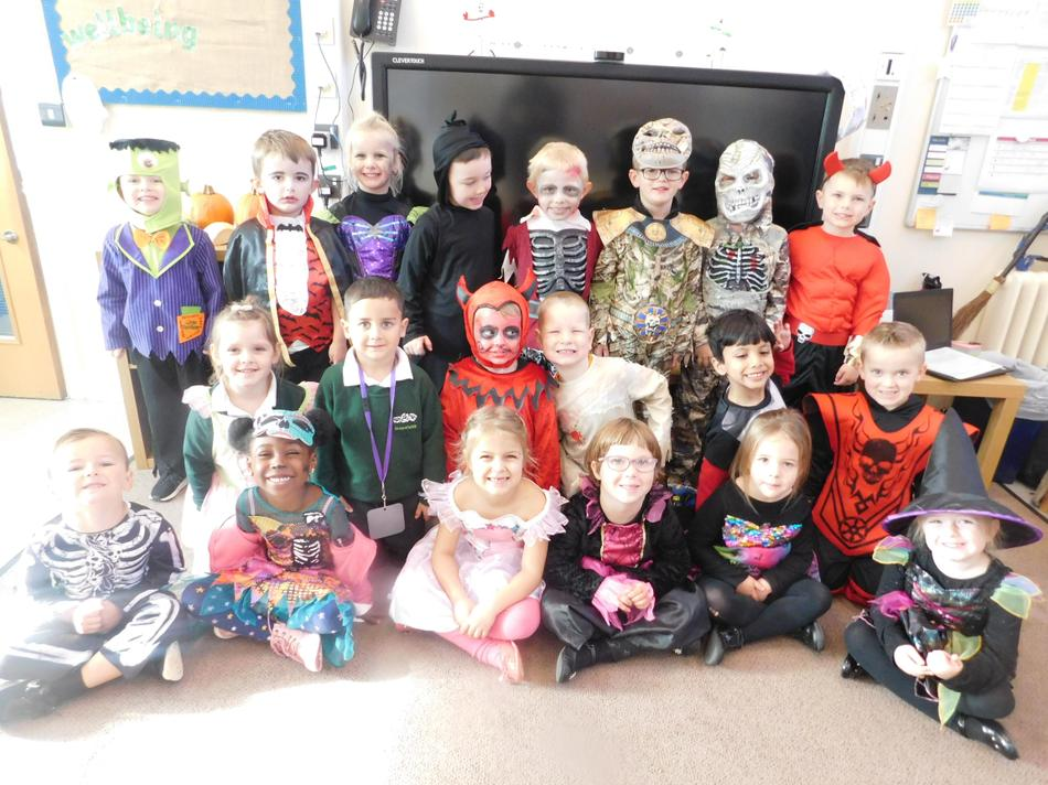 The children looked amazing in their costumes.