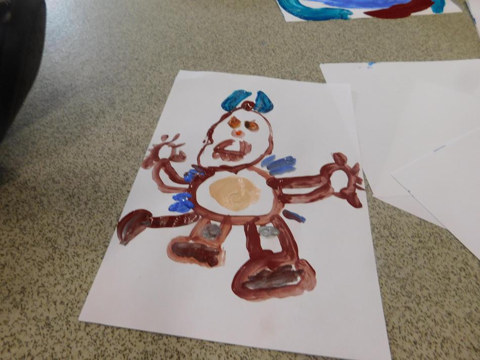 Imani's Gruffalo painting