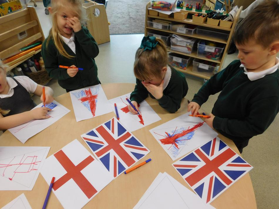 We created our own bunting.