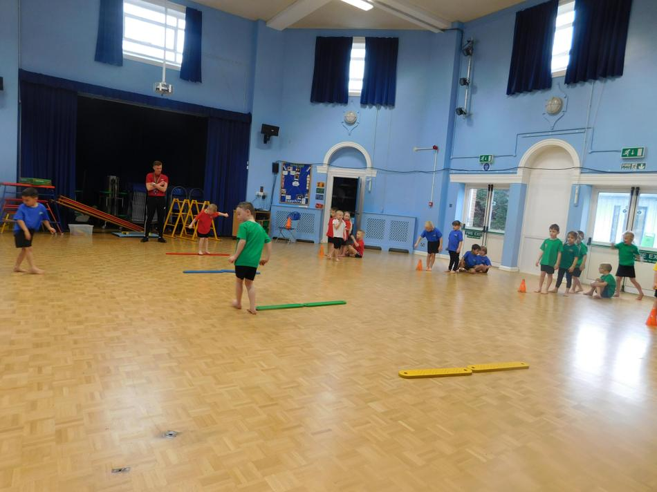 This week in P.E we worked on balance skills