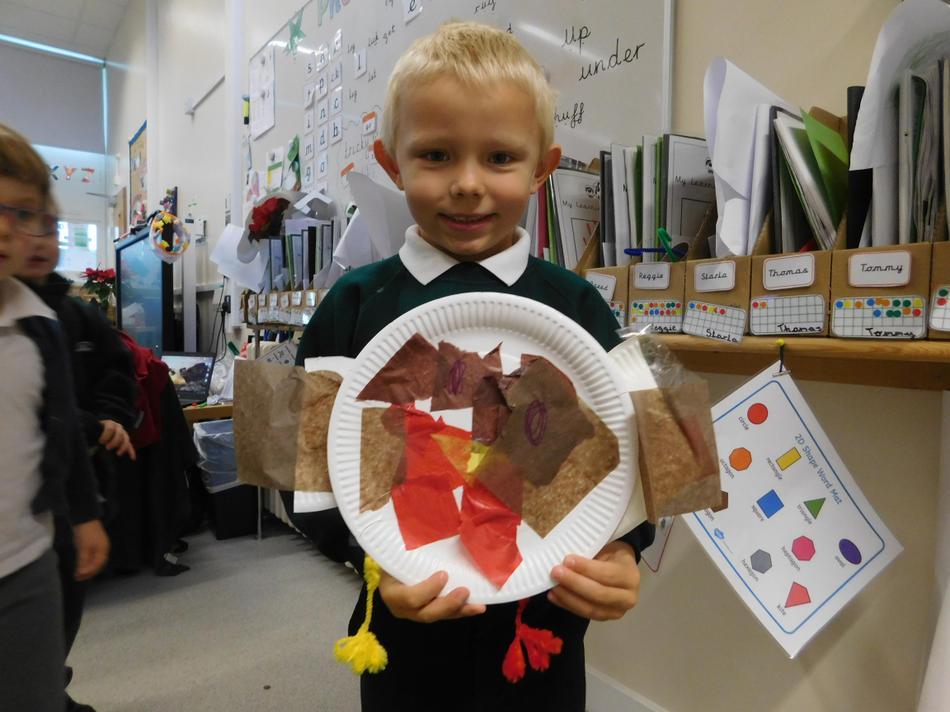 Lovely paper plate robin Luke.