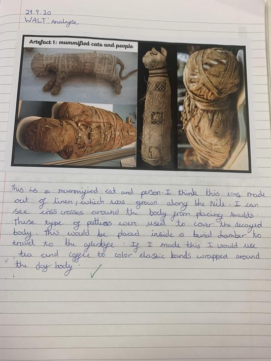 Analysing existing Egyptian artefacts...