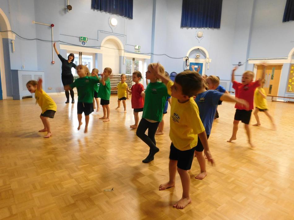Diwali dancing during PE.