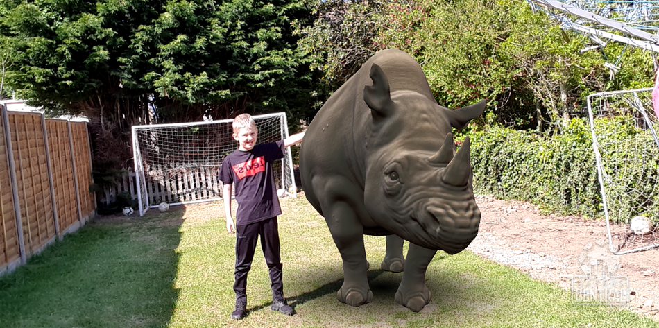 Oliver F found a rhino in his garden!