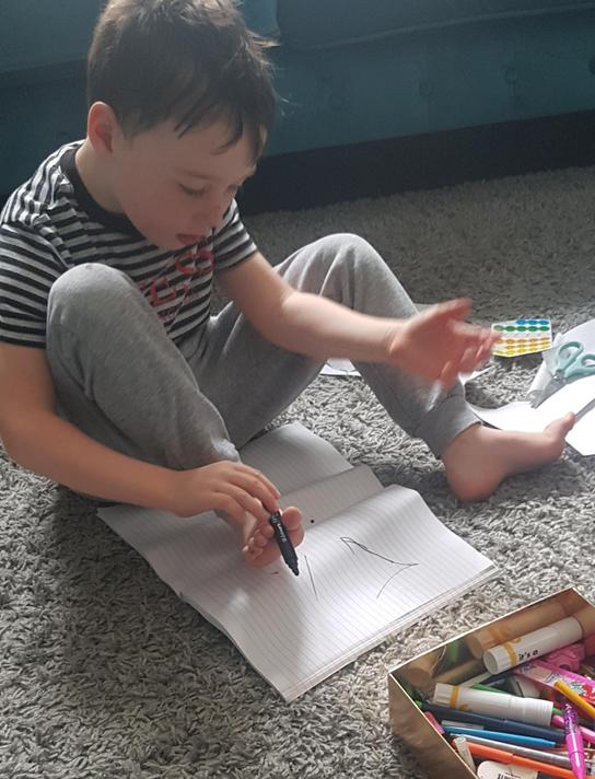 Challenge: write using your feet.