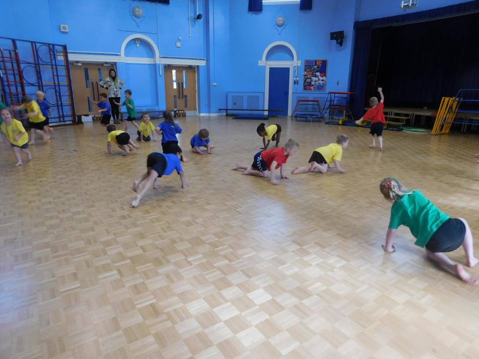 Enjoying our weekly P.E. session.