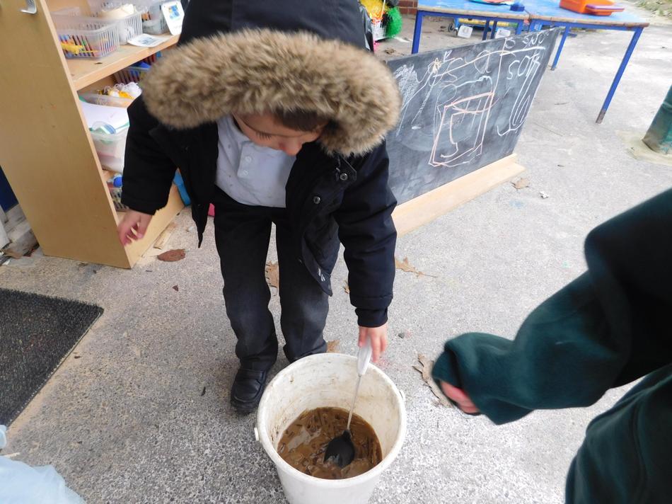 James made some 'hot chocolate'.