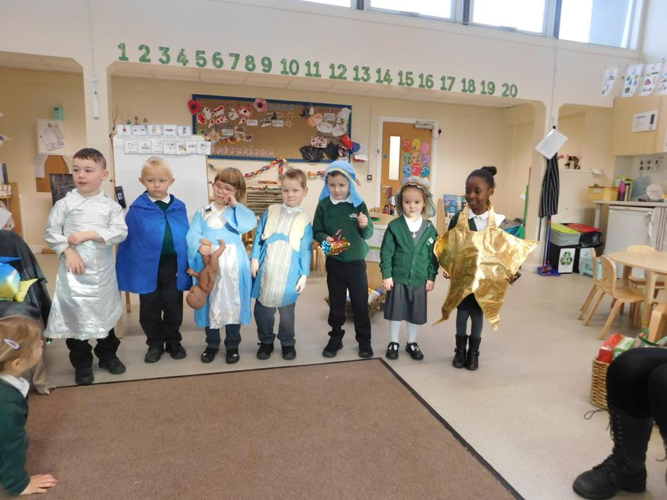 The children acted out the Christmas story.