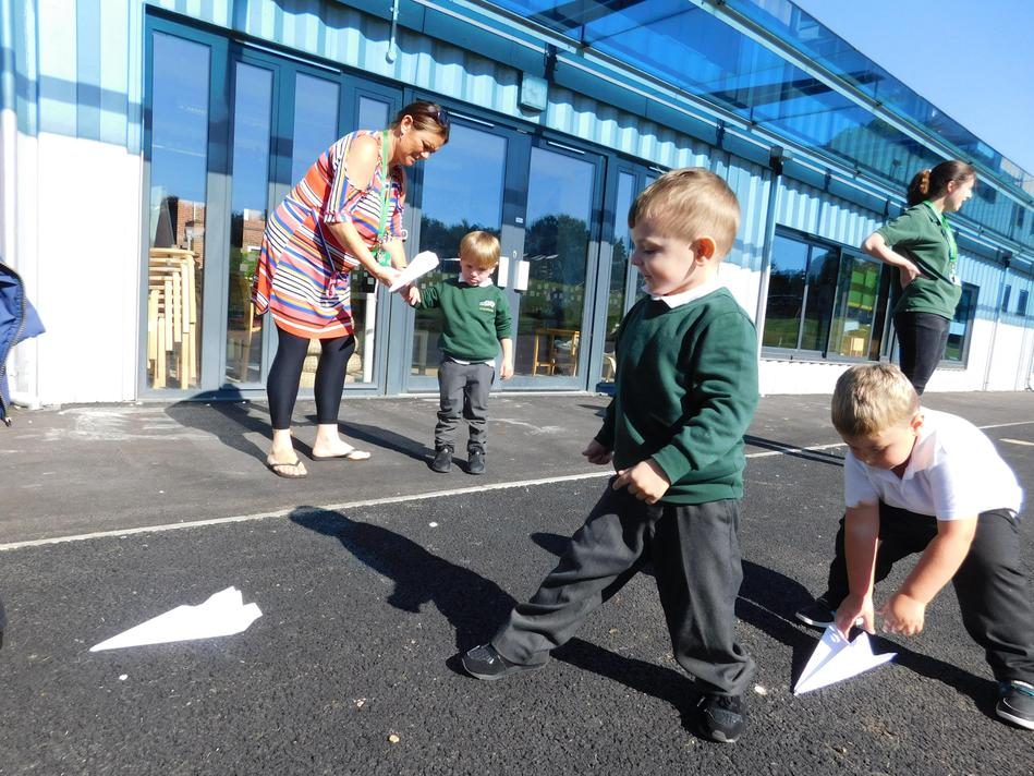 Paper Airplane race