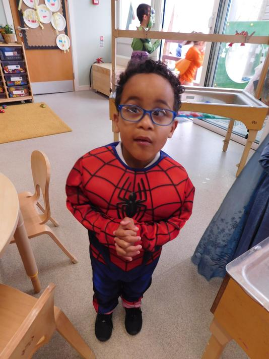 What big Spidy muscles you have Kyran!