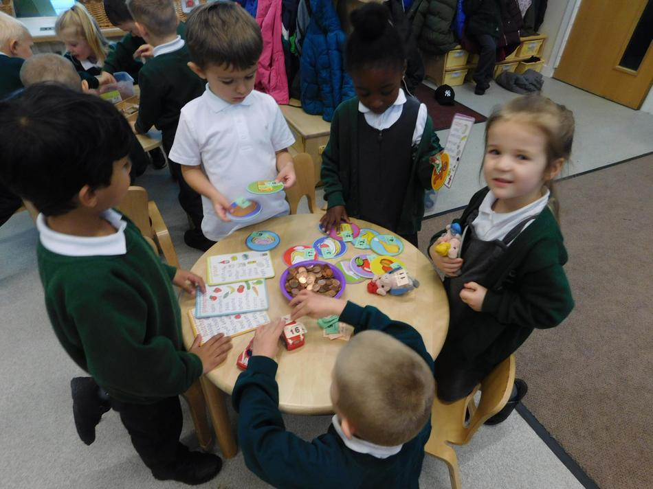 The children enjoyed learning about money.