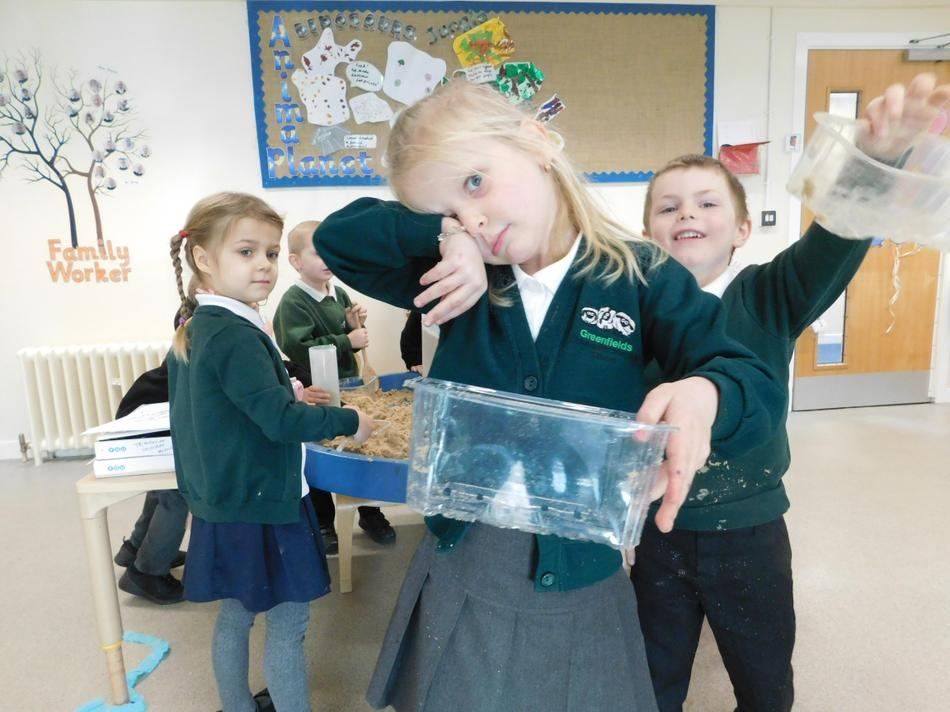 In maths we learned about capacity.