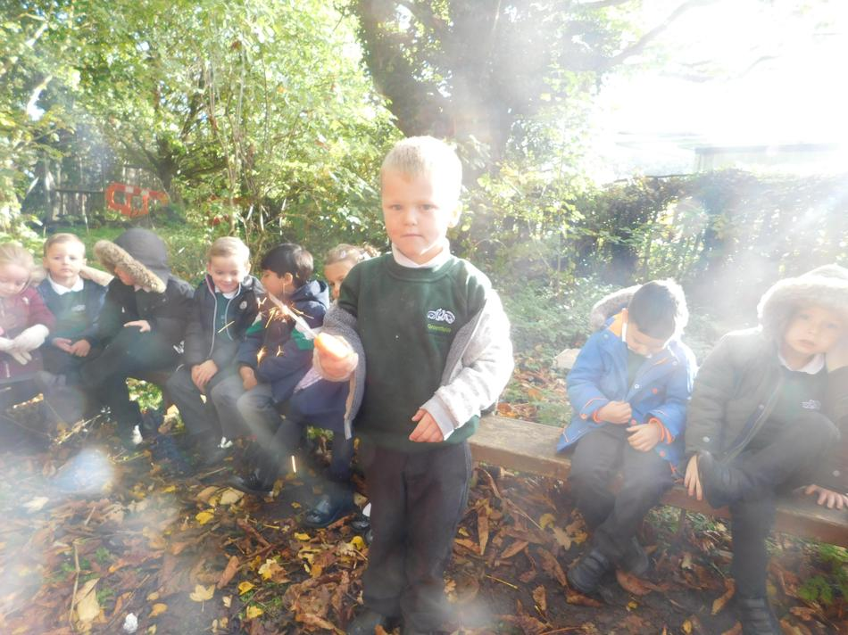 Archie with his sparkler today.