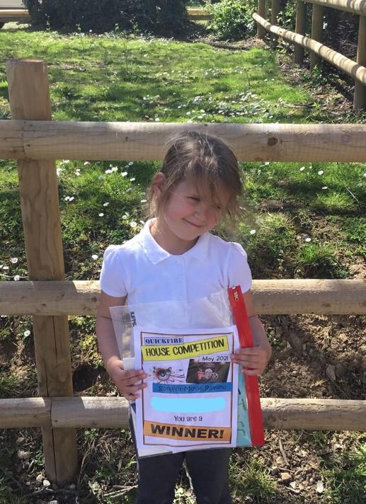 Well done Florence - our Year R winner!