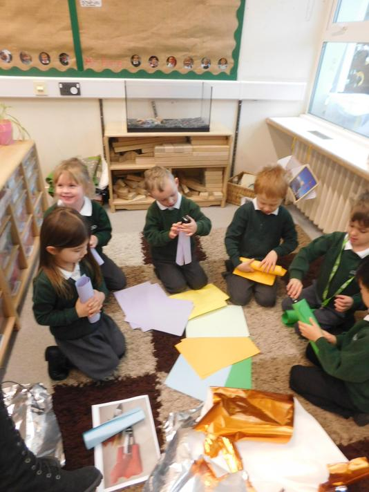 we created rockets using different materials