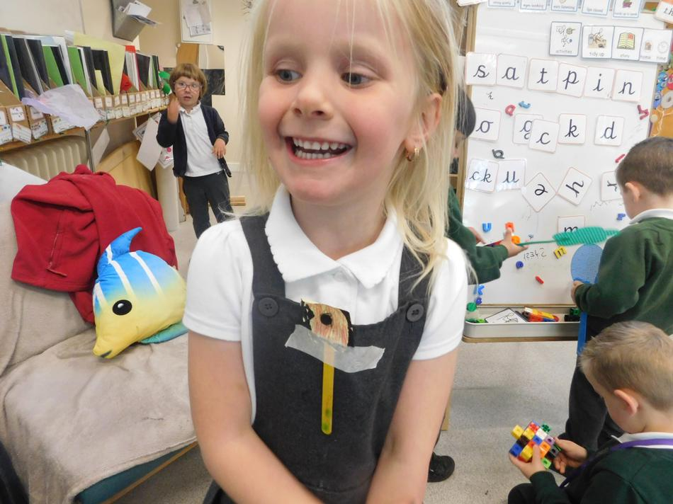 Maisie-Jane chose to make her own poppy.