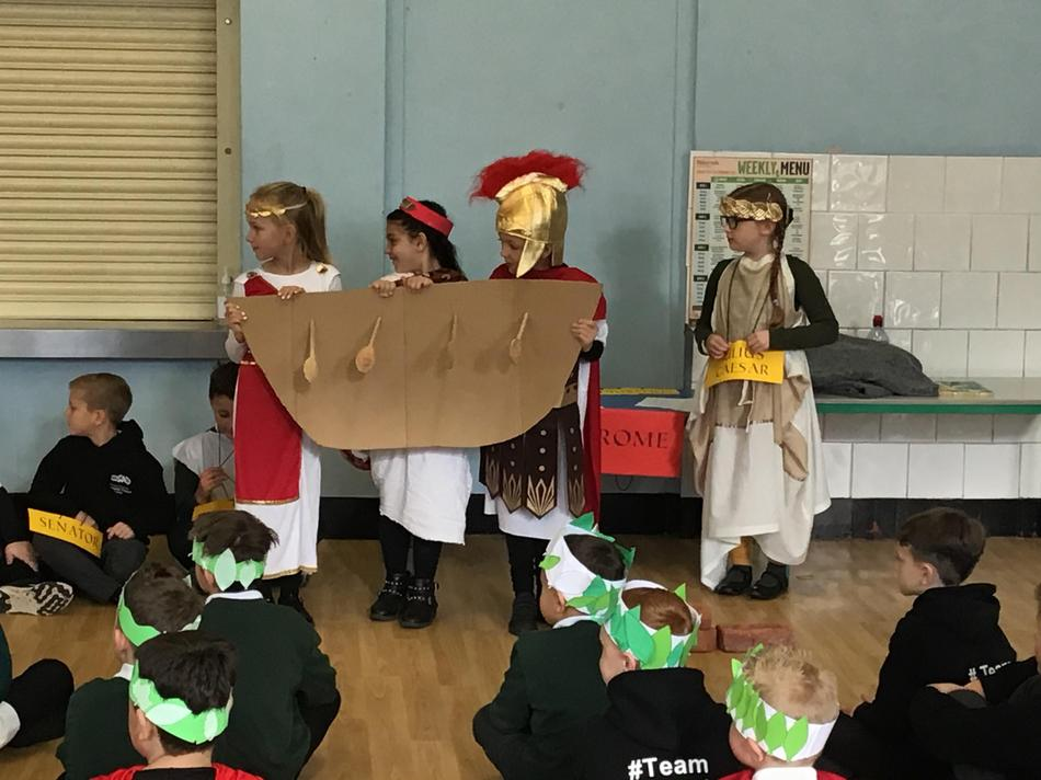 The Romans on their way to invade Britain.