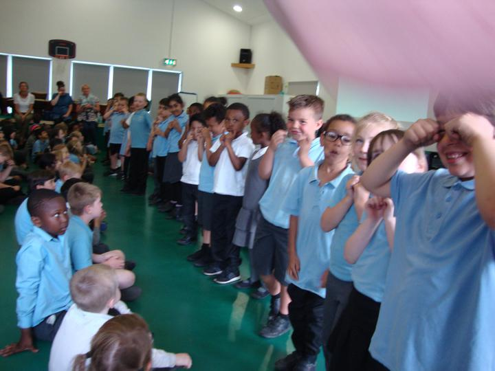 Class 1 sharing their Makaton signing.