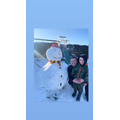 Snowman building as part of winter learning.